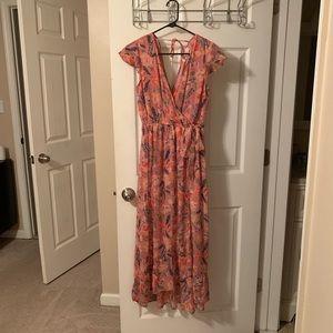 NWOT Long Pink Floral Dress